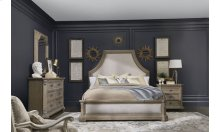Arch Salvage Queen Bryce Upholstered Bed - Parchment