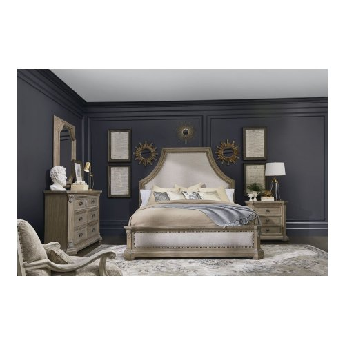 Arch Salvage King Bryce Upholstered Bed