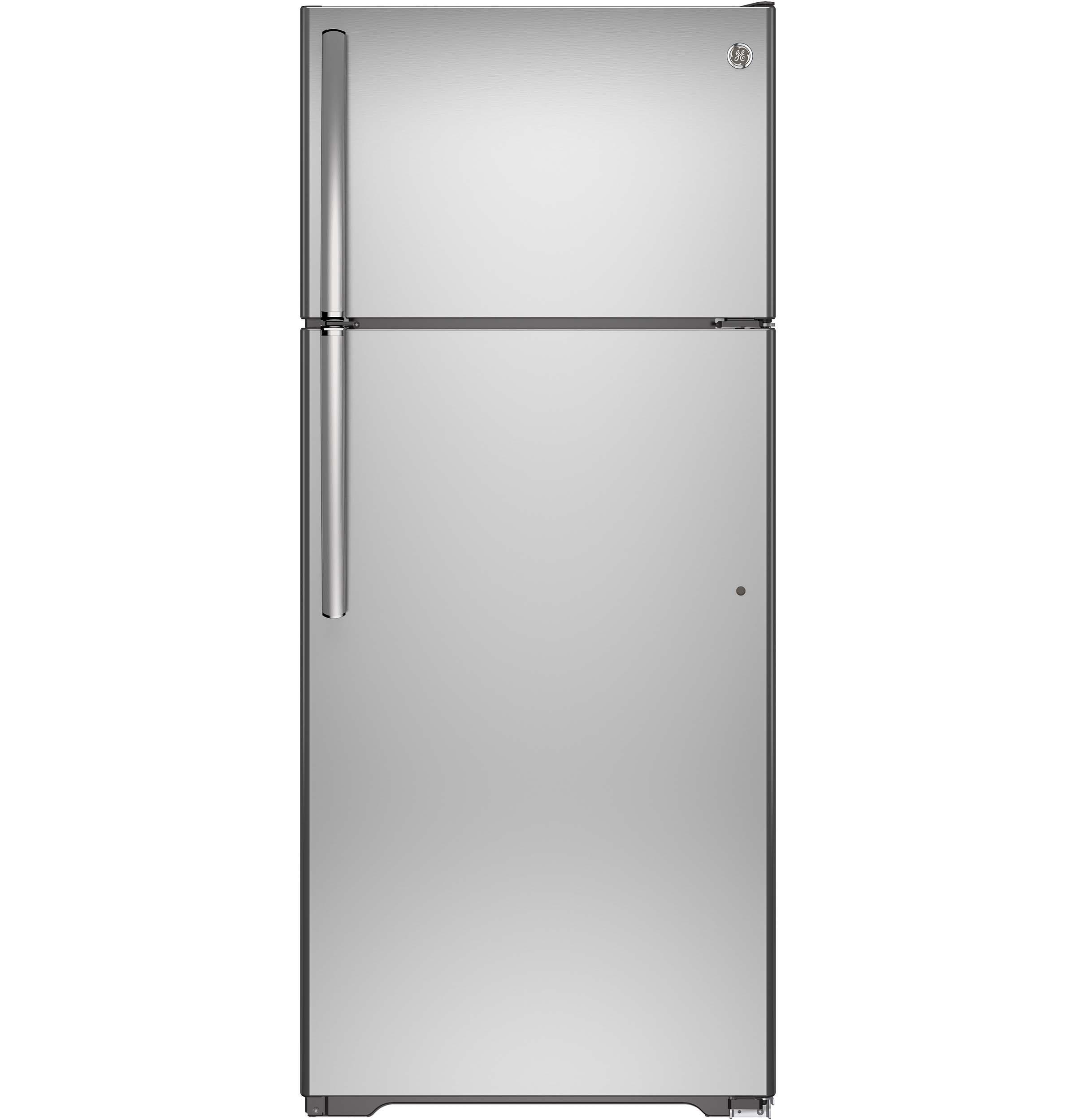 GE(R) ENERGY STAR(R) 17.5 Cu. Ft. Top-Freezer Refrigerator  STAINLESS STEEL