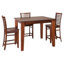 "36"" Square Large Tapered Legs Gathering Table"