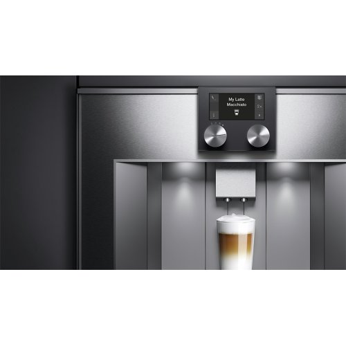 400 Series Fully Automatic Espresso Machine Stainless Steel-backed Glass Front