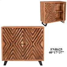 Bengal Manor Acacia Wood 2 Door Diamond Overlay Cabinet