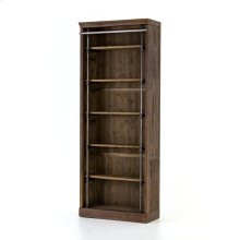 Without Ladder Size Brown Umber Pine Finish Ivy Bookcase