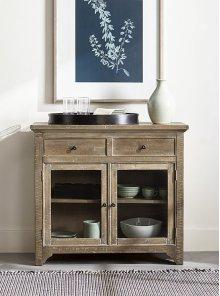 Serving Cabinet - Distressed Oak Finish