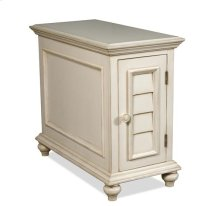 Placid Cove Chairside Chest Honeysuckle White finish