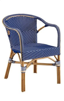 Blue Paley Bistro Chair