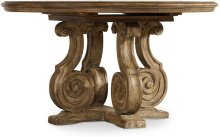 Solana 54in Pedestal Dining Table w/1-20in Leaf