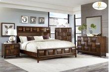 HOMELEGANCE 1852-1-9 Porter Queen Bed, Dresser, Mirror, Night Stand & Chest Group