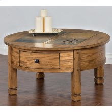 RED HOT BUY-BE HAPPY! Sedona Round Coffee Table