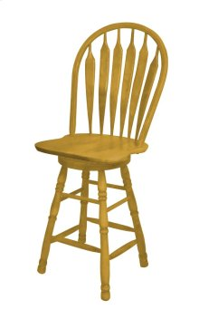 "Sunset Trading 30"" Swivel Barstool in Light Oak Finish"