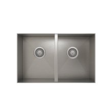 ProInox H0 50/50 Double Bowl undermount Kitchen Sink ProInox H0 18-gauge Stainless Steel, 28'' X 16'' X 8''