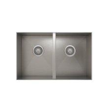 ProInox H0 50/50 Double Bowl undermount Kitchen Sink ProInox H0 18-gauge Stainless Steel, 28'' X 16'' X 8''