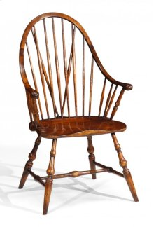 Tall Walnut Windsor Armchair