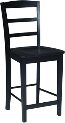 "24"" Madrid Stool Black"