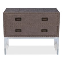 Brass Tack Chest On Stand, Dark Grey
