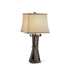 Flat Curl Faux Metal Table Lamp