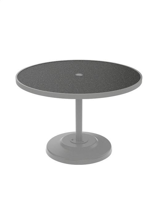 "Raduno 42"" Round KD HPL Pedestal Dining Umbrella Table"