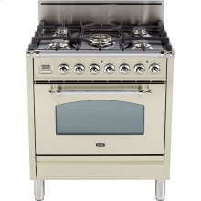 "Antique White - Nostalgie 30"" Gas Range"