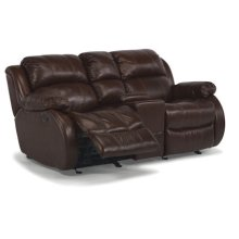 Brandon Leather Power Reclining Love Seat w/ Console