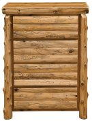 Three Drawer Chest - Log Front Natural Cedar, Premium Product Image