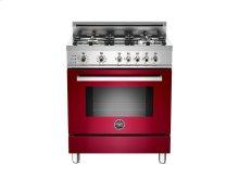 30 4-Burner, Electric Self-Clean Oven Burgundy