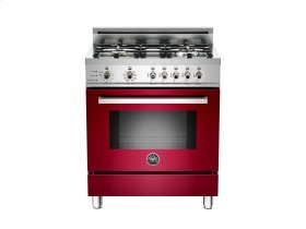 30 4-Burner, Electric Self-Clean Oven Burgundy