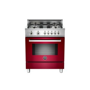 30 4-Burner, Electric Self-Clean Oven Burgundy - Burgundy