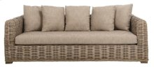 Bora Bora Wicker Sofa - Natural / Brown