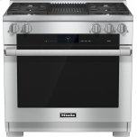 MieleHR 1935 G 36 inch range Dual Fuel with M Touch controls, Moisture Plus and M Pro dual stacked burners