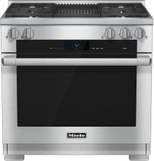 HR 1935 G 36 inch range Dual Fuel with M Touch controls, Moisture Plus and M Pro dual stacked burners