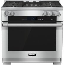 HR 1935-2 G 36 inch range Dual Fuel with M Touch controls, Moisture Plus and M Pro dual stacked burners