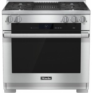 MieleHR 1935-2 G 36 inch range Dual Fuel with M Touch controls, Moisture Plus and M Pro dual stacked burners