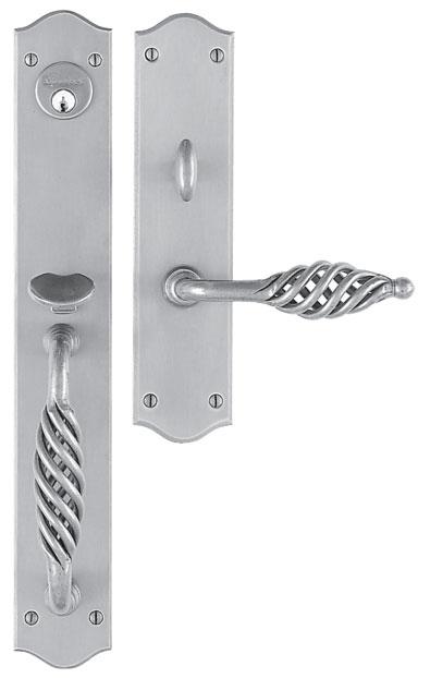 """Libourne Entrance Handle Set - Complete single cylinder set for 2 1/4"""" door"""