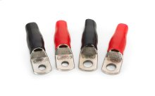 Four 4 AWG Crimpable Ring Terminals