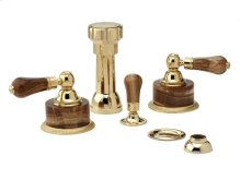 REGENT Four Hole Bidet Set K4271 - Polished Brass