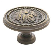 Satin Brass and Black Ornamental Knob