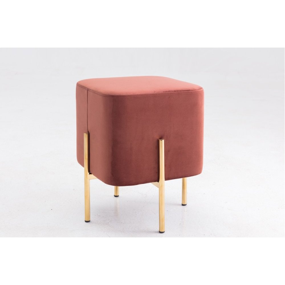 Modrest Ranger Modern Copper Fabric Square Ottoman