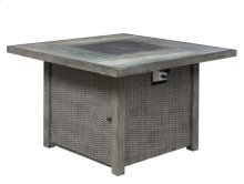 45'' Square Table W/fire Pit-brown (1/ctn)