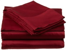 King Size Sheets Burgundy