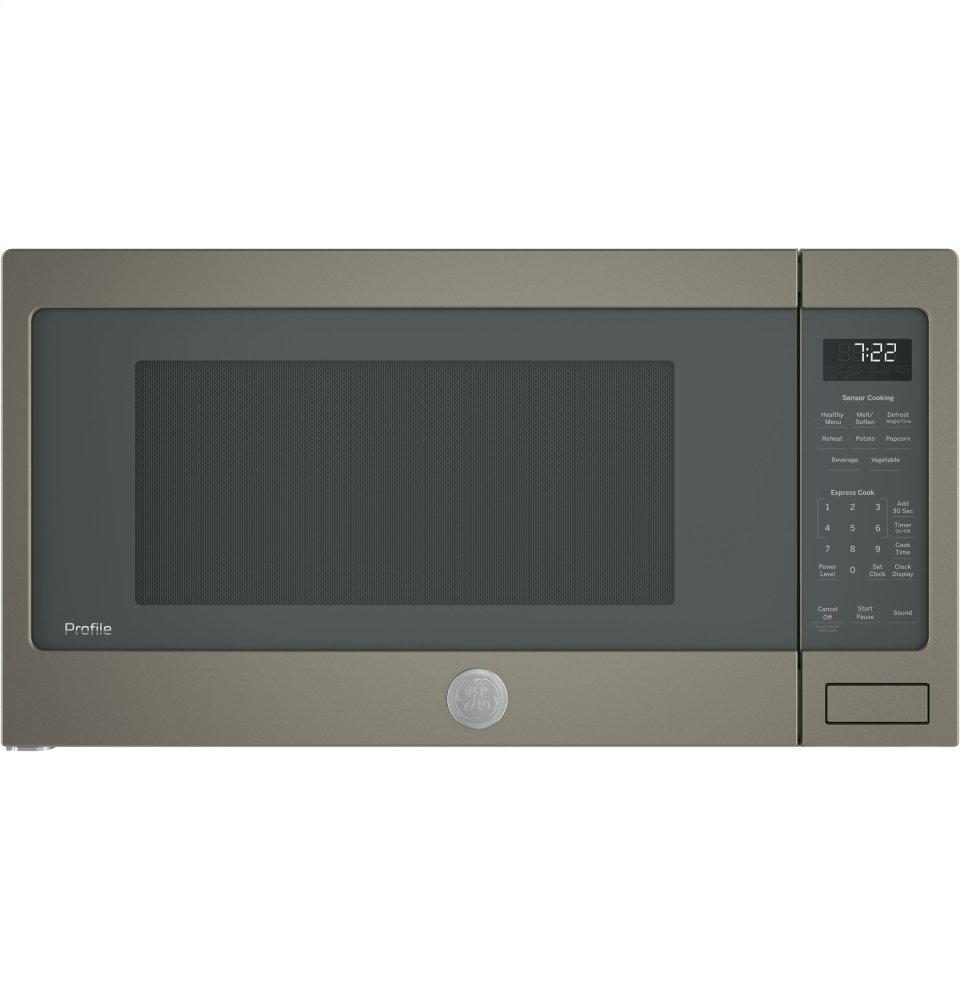 GE Profile(TM) Series 2.2 Cu. Ft. Countertop Sensor Microwave Oven  SLATE