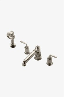 R.W. Atlas Low Profile Concealed Tub Filler With Handshower and Metal Lever Handles STYLE: RWTF10