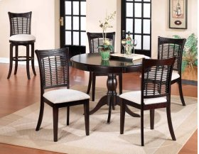 Bayberry 5pc Round Dining Set - Dark Cherry