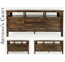 "Artisan's Craft 60"" Media Console - Dakota Oak Product Image"
