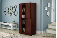 4-Door Storage Cabinet - Royal Cherry