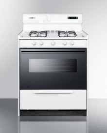 "Deluxe Gas Range In 30"" Width With Sealed Burners, Electronic Ignition, Digital Clock/timer, Black See-through Glass Oven Door and Light"