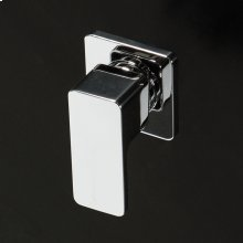 """Built IN stop valve with a handle and square backplate W: 2 1/8"""", H: 3 3/8"""" ."""