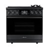 "Dacor 36"" Range, Graphite Stainless Steel, Natural Gas/high Altitude"
