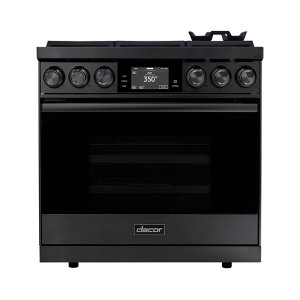 "Dacor36"" Range, Graphite Stainless Steel, Natural Gas"