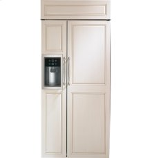 "Monogram 36"" Built-In Side-by-Side Refrigerator with Dispenser"