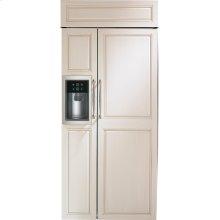 "Monogram 36"" Built-In Side-by-Side Refrigerator with Dispenser"